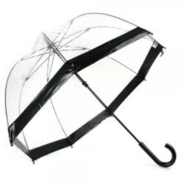 Fulton umbrella clear black